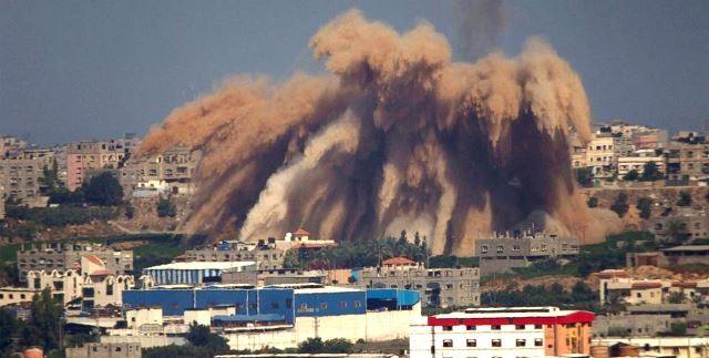 GAZA by, den 8. og 9. juli 2014