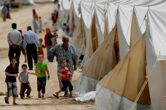 Syrisk flygtningelejr i provinsen Hatay i Tyrkiet