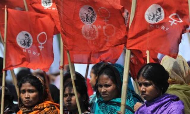 8.marts demo i Bangladesh' hovedstad Dhaka