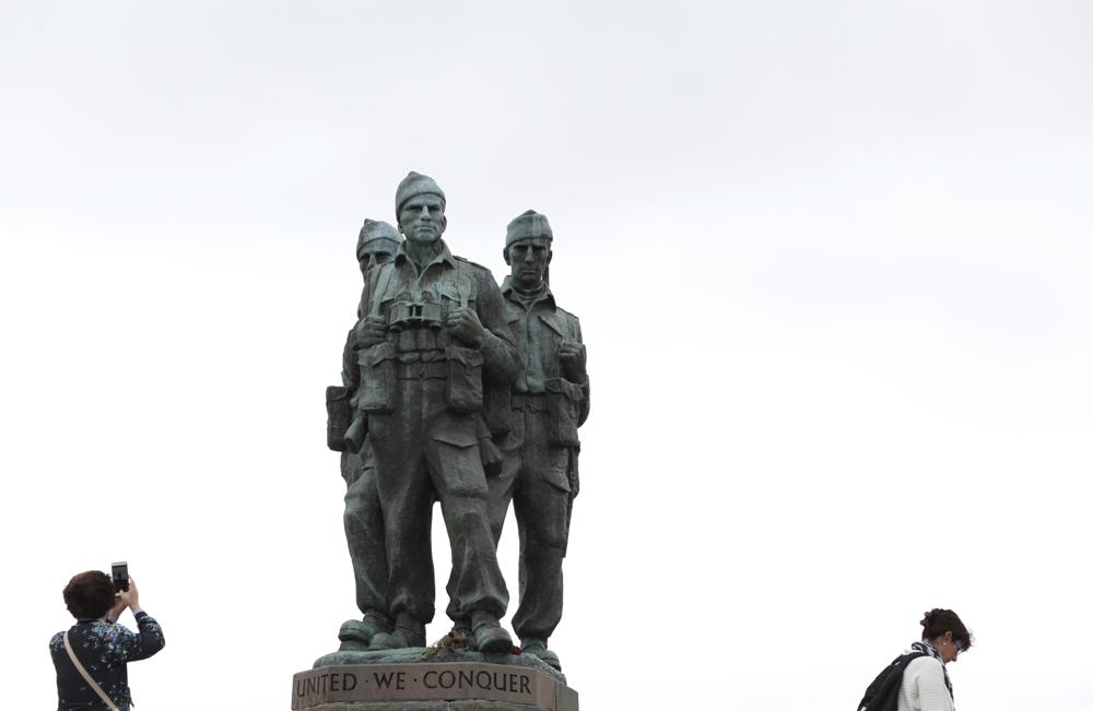 """Das """"Commando Monument"""", in der Nähe der Spean Bridge, erinnert an Kämpfer hinter feindlichen Linien."""