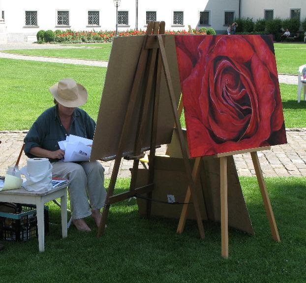 Event offenes Malatelier im Klosterhof St. Gallen