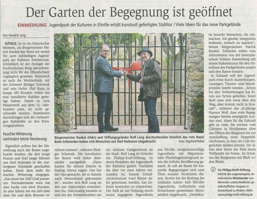 10. Mail 2018  Wiesbadener Kurier zur Toreinweihung