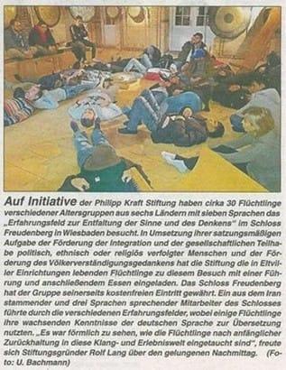 18.02.2016 Rheingau Echo Besuch im Erfahrungsfeld der Sinne in Schloss Freudenberg