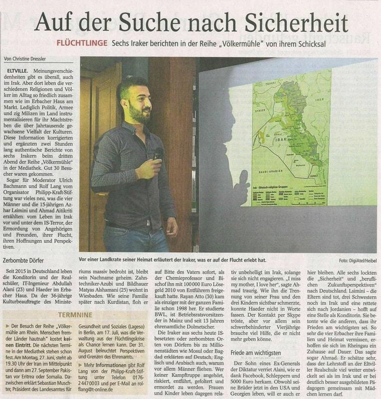 25.05.2016 Wiesbadener Kurier Völkermühleveranstaltung zu Irak