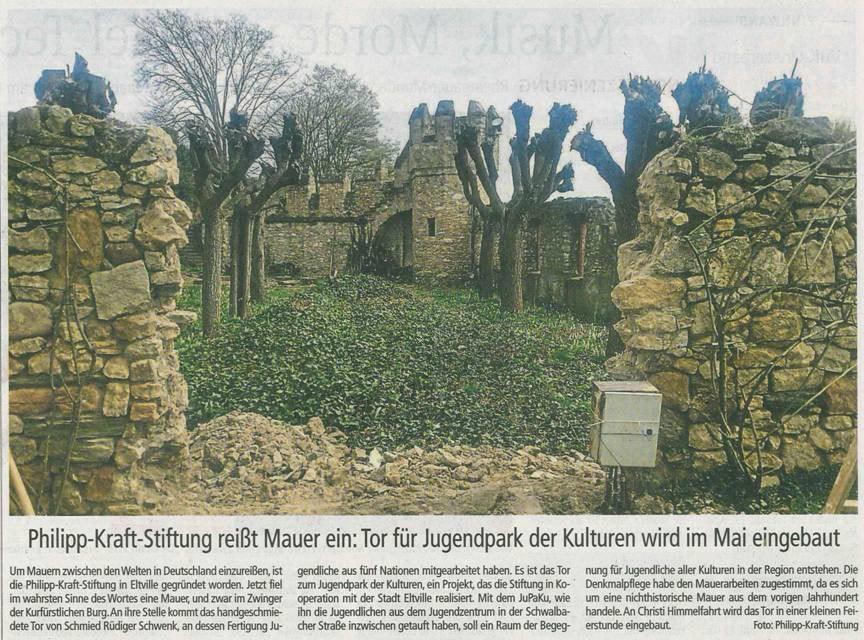 11. April 2018  Wiesbadener Kurier zum Mauerdurchbruch