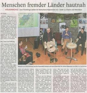 28.03.2016  Wiesbadener Kurier Völkermühleveranstaltung zu Afghanistan