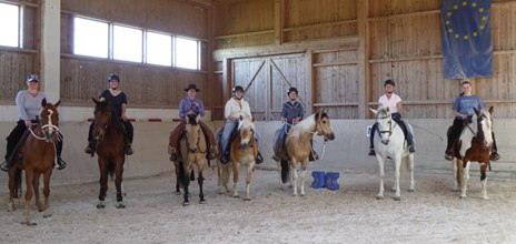 Horsemanship-/Cowboy Dressage course on the equestrian center Frank in Eiselfing