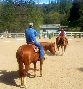 Cowboy Dressage School of Horsemanship bei Eitan Beth-Hallachmy, Norvin Way, California, USA