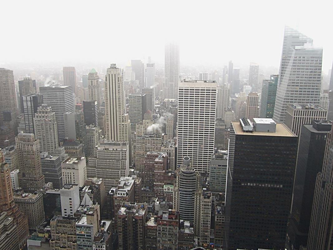 Vom Rockefeller Center - leider Regen