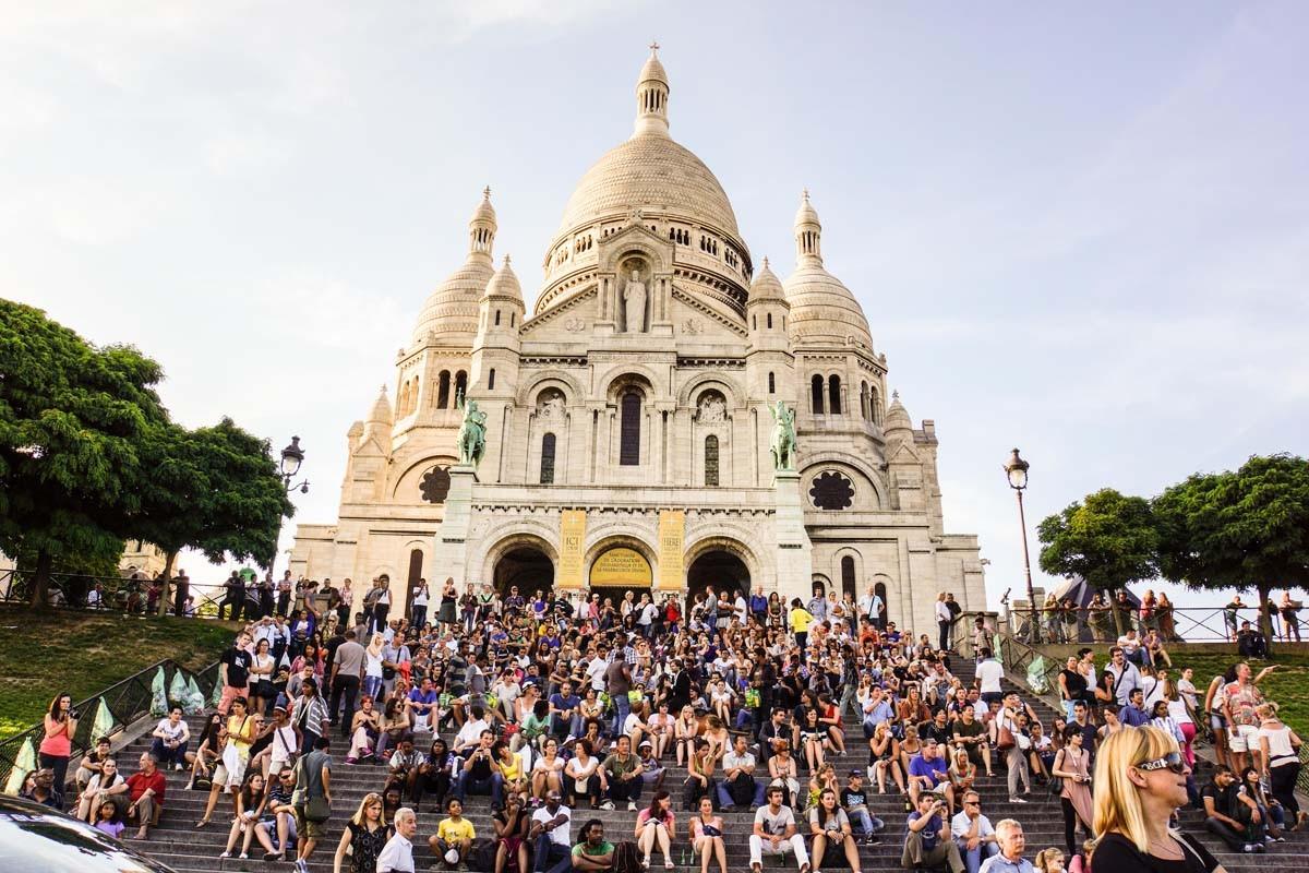 Montmartre mit Sacre Couer - immer dicht belagert
