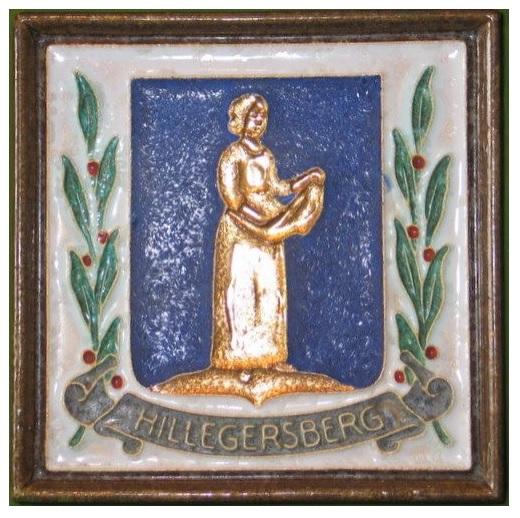 afbeelding op een heraldische tegel