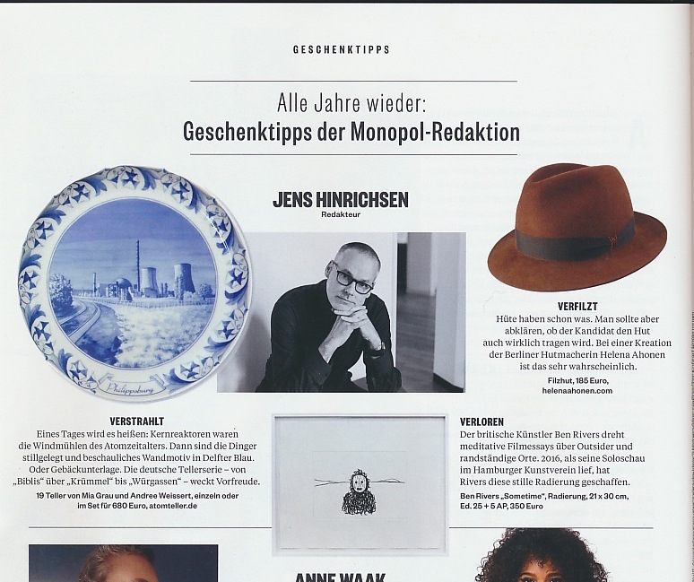 Helena Ahonen Hutmacherin, Hüte Berlin, Herrenhüte, Geschenktipps Weinachten
