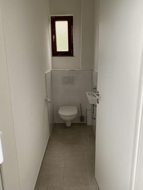 Nachher Toilette nach Kernsanierung