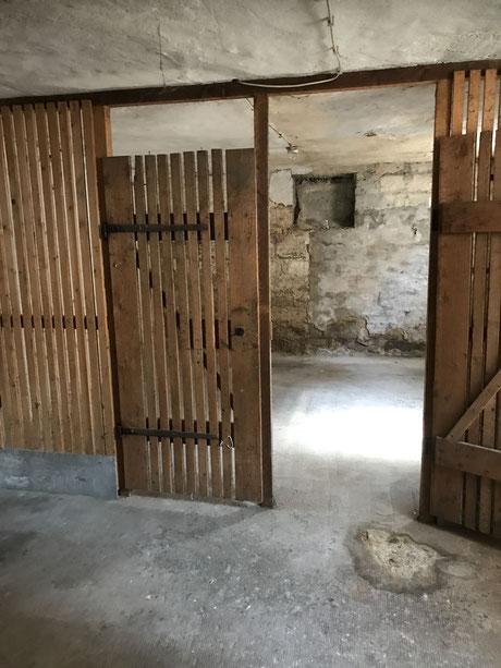 Vorher - Schimmel im Kellerraum und alte Kellerverlattung