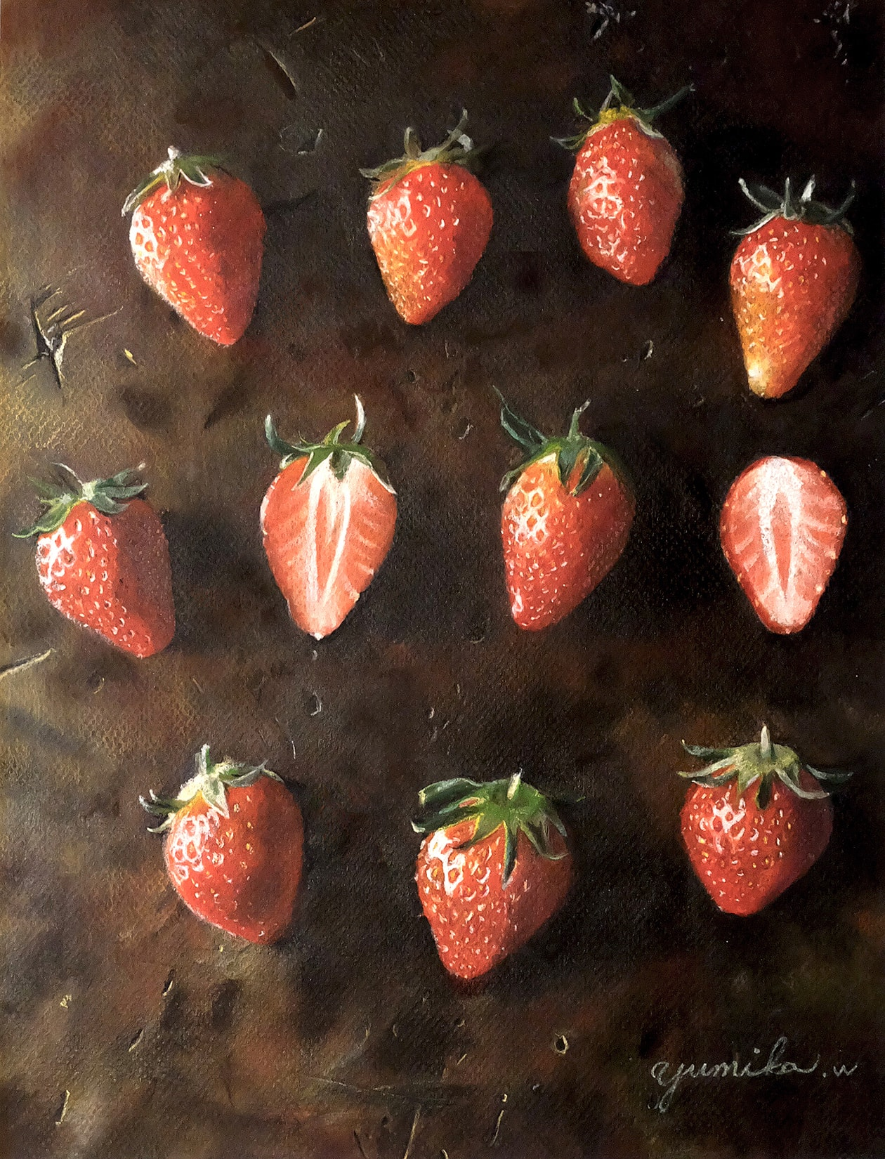 strawberry/pastel on paper 2015