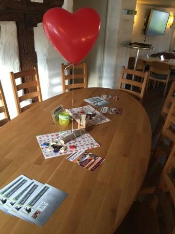Tisch für den Fanclub