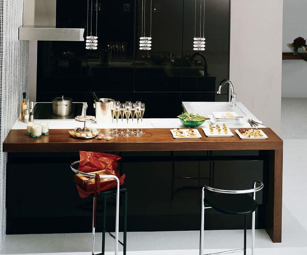リビングゲートカウンター / ドライエリアとウエットエリアを明確に区切りながら、キッチンに立つ人とカウンターに座る人との心地よい距離を生み出します。