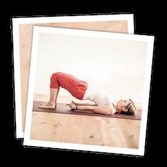 Yoga für den gesunden Rücken; MANYO; Position: Schulterbrücke