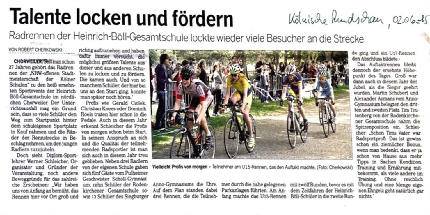 Kölnische Rundschau 02.06.2015
