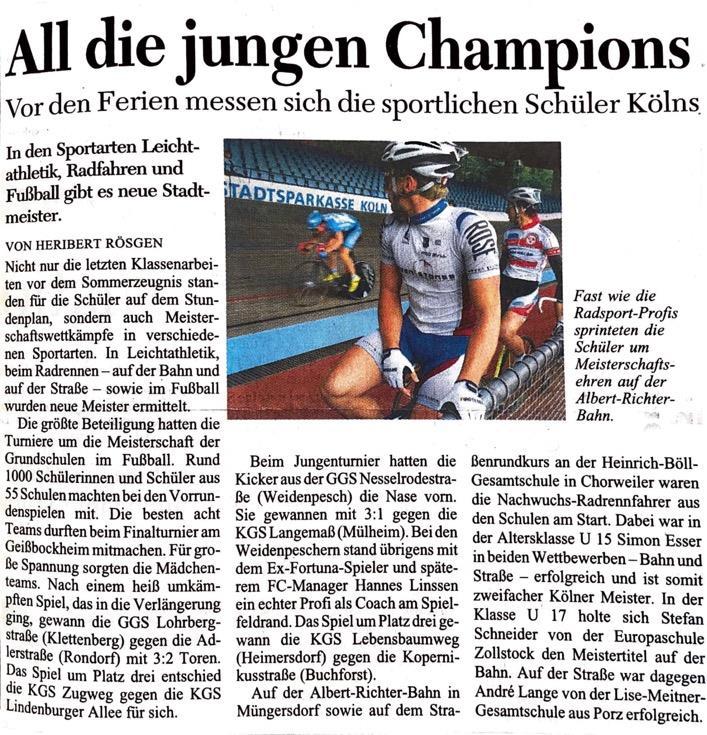 Kölner Stadt Anzeiger Nr.142 23. 06. 2009