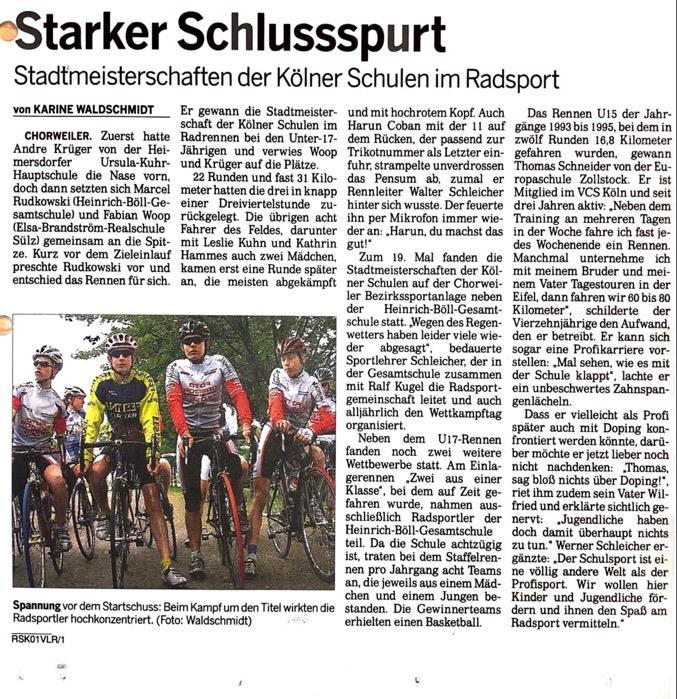 Kölnische Rundschau N r. 112 15. 05. 2007