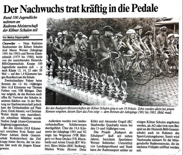 Kölner Stadt Anzeiger 15./16. 06. 1995