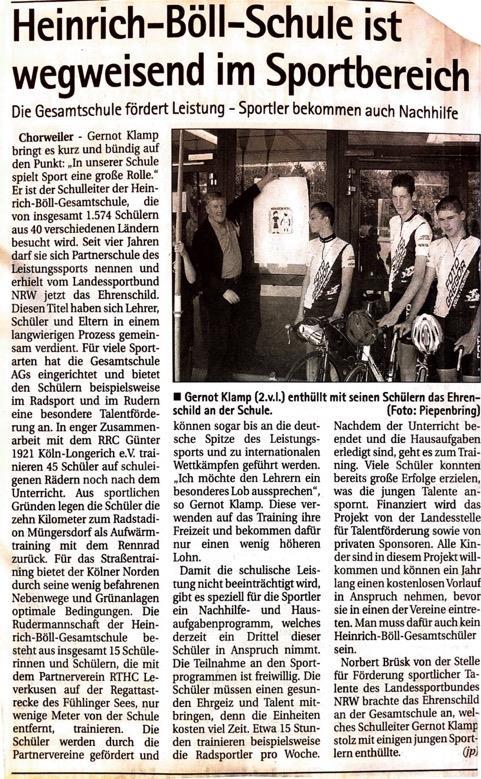 Kölnische Rundschau 04. 08.2004