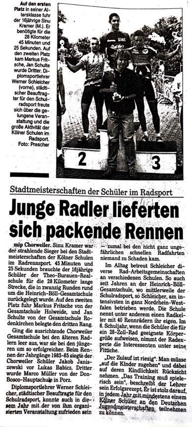 Kölnische Rundschau Nr. 144 25.06.1997