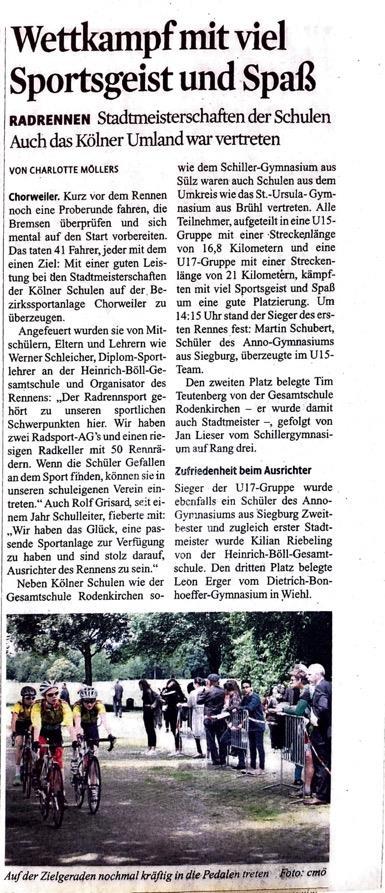 Kölner Stadt Anzeiger 23.06.2016