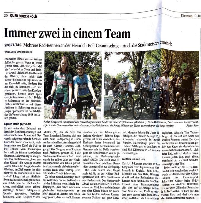 Kölner Stadt Anzeige r 10.07.2018