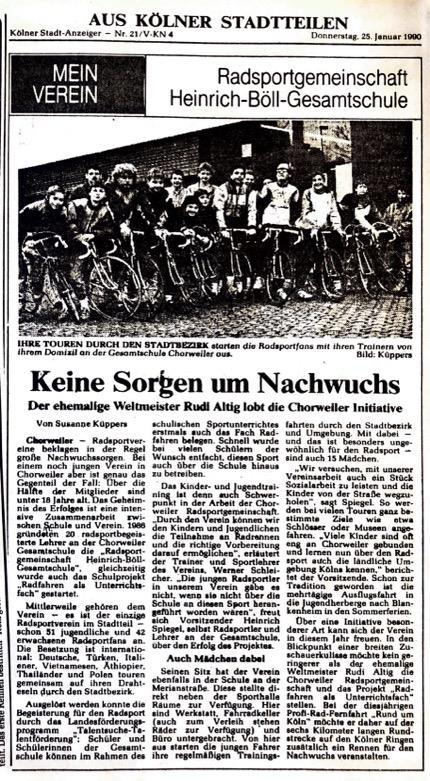 Kölner Stadt Anzeiger Nr. 21 25.01.1990