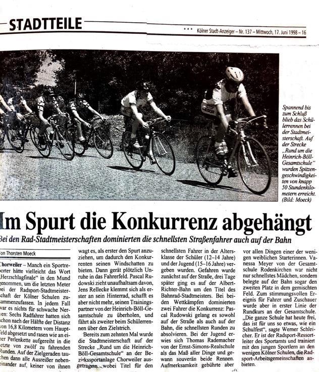 Kölner Stadt Anzeiger Nr. 137 17. 06. 1998
