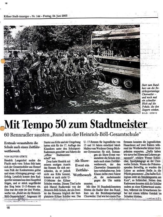 Kölner Stadt Anzeiger Nr. 144 24.06.2005