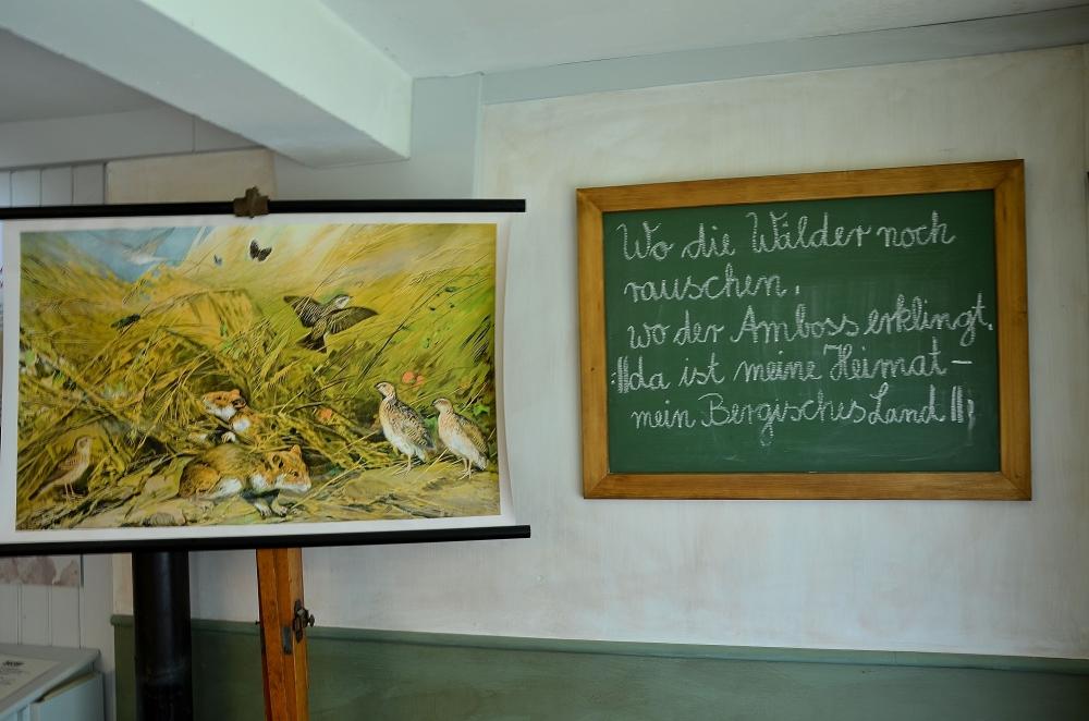 Alte Schultafel im LVR-Museum in Lindlar