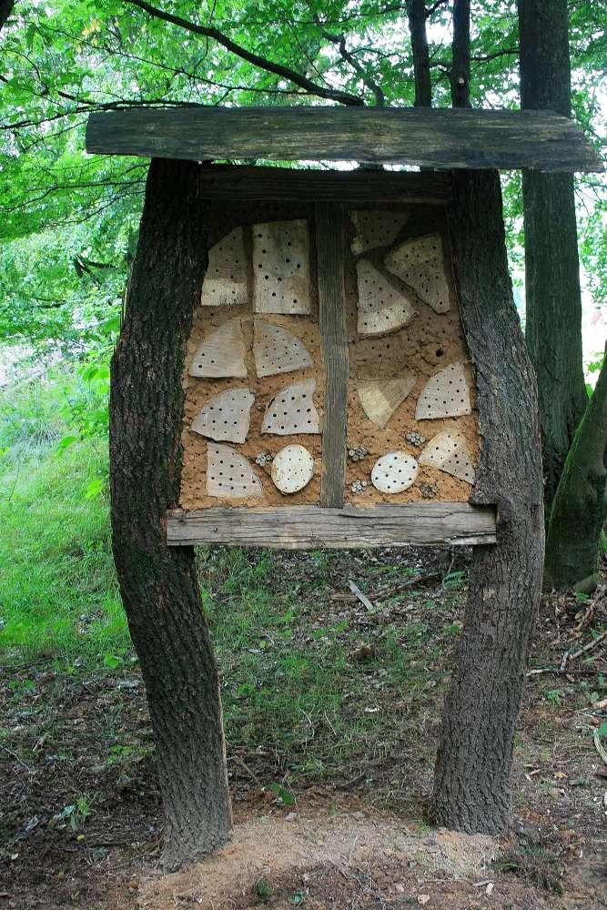 Ein Schulprojekt im Wildgehege: Insektenhotel