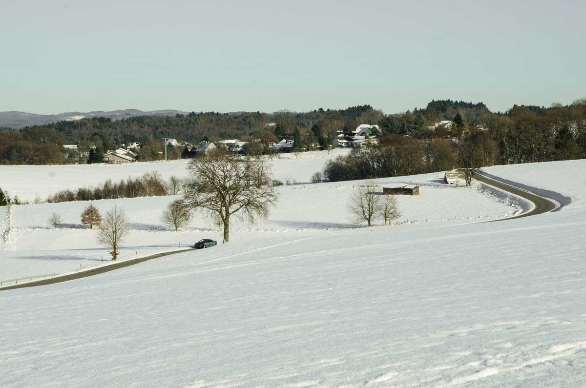 Fahrt durch die Winterlandschaft