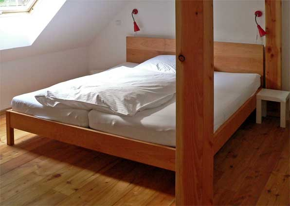 klassisches Bett; Buche; geölt