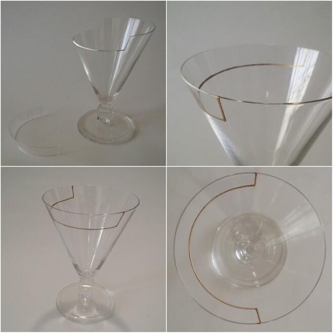 ガラス修理・割れ/紫外線感光型接着剤+ガラス用漆+金(消し粉仕上げ)