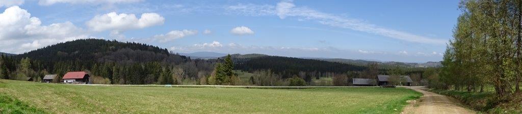 Blick über den Kanal hinüber nach Böhmen