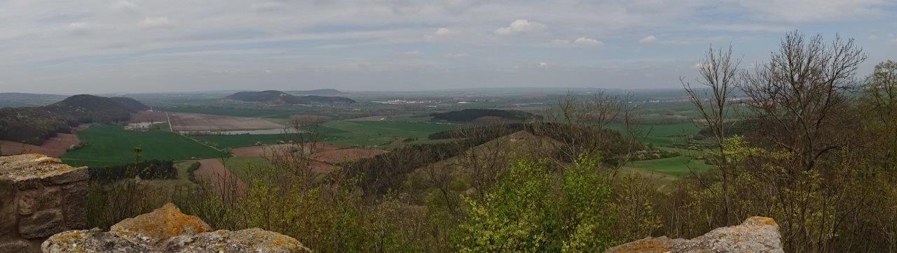 Blick von der Veste Wachsenburg