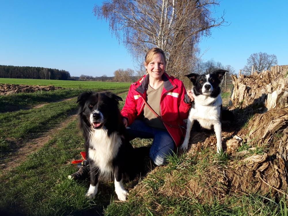 Nicole mit Knut und Tommy
