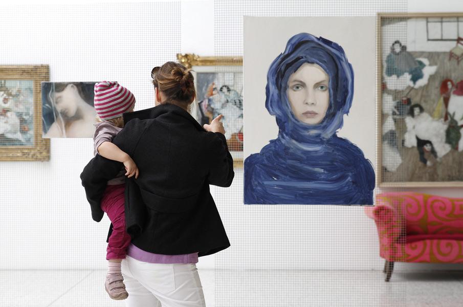 Museumsausstellung von Deutschen Künstlern