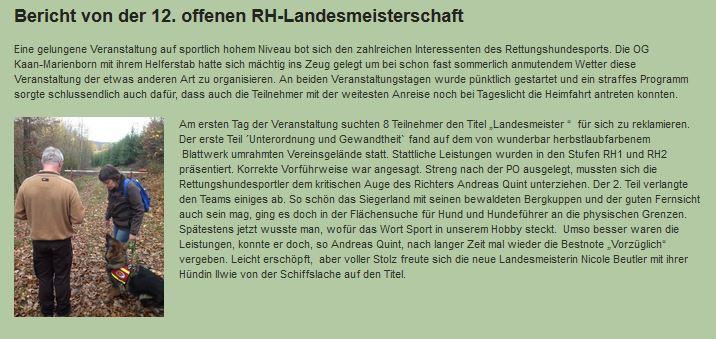 Landesmeister 2016 Fläche Westfalen