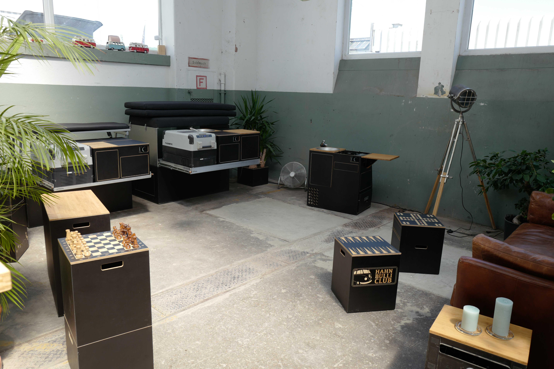 Ausstellungsraum der Module und Ausbauten in Esslingen