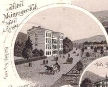 Lithographie Meininger Hof 1897