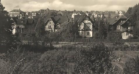 An der Parkstrasse 1938 - das Fachwerk ( rechts ) war verkleidet !
