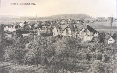 Aufnahme 1912, v.r. Villa Belz, Villa Pfeifer, Villa Gertrud, Villa Leopold