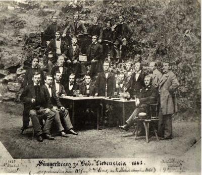 Sängerkranz 1863 vor dem Erdfall