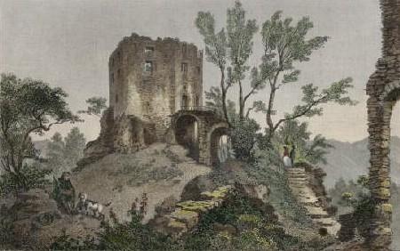 Kolorierter Stahlstich von A. Rottmann (1795 -1840, Militärmaler) nach L. Rohbock um 1838