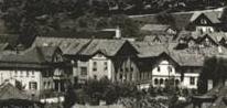 Villa Heller links, Fabrik Ludwig Heller mitte und Logierhof rechts